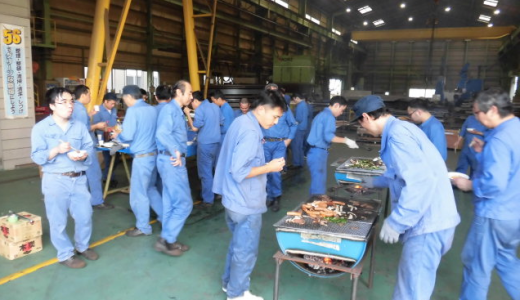 関東工場 バーベキュー